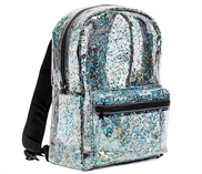 Backpack: Glitter - transparent/black
