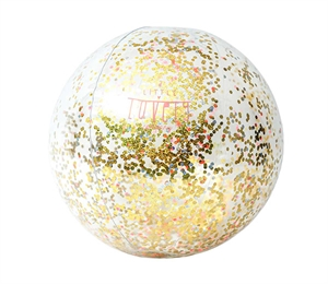 Inflatable beach ball: Glitter