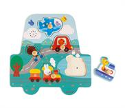 Janod Musical Puzzle Little Racers
