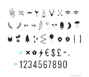 Lightbox Numbers & Symbols set