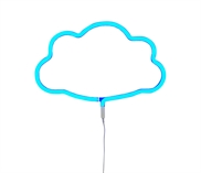 Neon light Cloud  blue