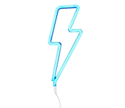 Neon light Lightning bolt blue