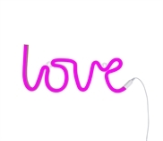 Neon light Love pink