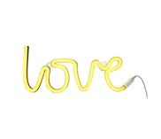 Neon light Love yellow